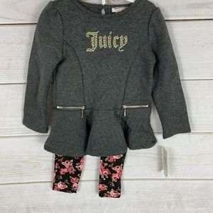 Juicy Couture Toddler Girls Charcoal Tunic 2pc, 4T